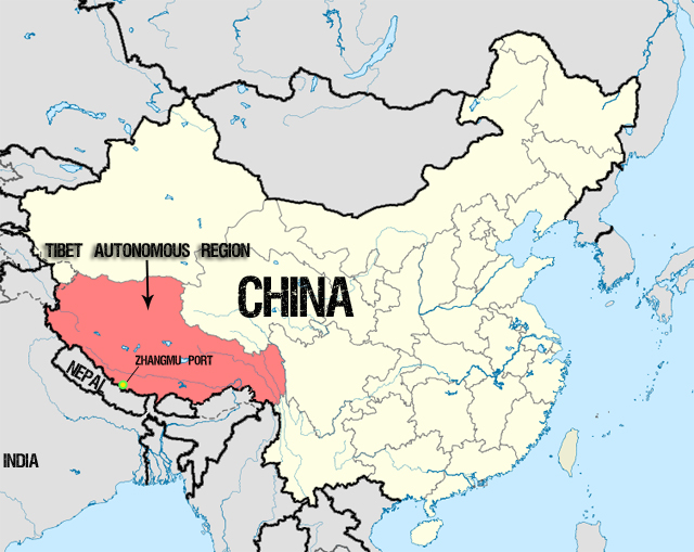 Tibet Location On World Map.Tibet Identified As Significant Smuggling Route For Illegal Wildlife